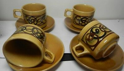 Vintage  Cups & Saucers  by Brixham Pottery Devon