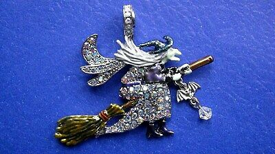 "KIRKS FOLLY ""SEASON OF THE WITCH"" w BAT MAGNETIC ENHANCER: Silver Metal, Signed"