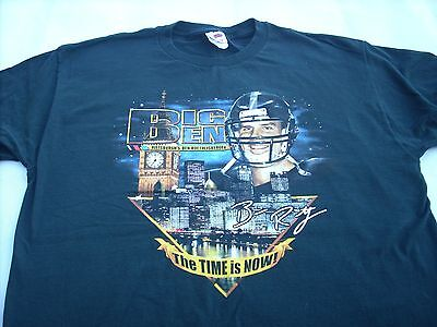 Pittsburgh Steelers Ben Roethlisberger NFL T-Shirt XL Big Ben the Time is Now