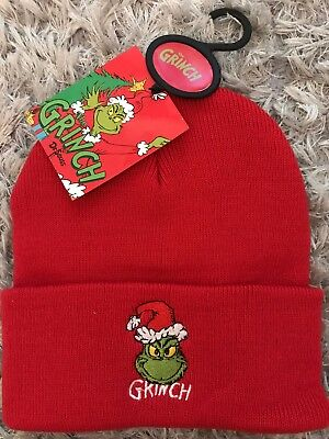 99b40e37033a9 New THE GRINCH Beanie Hat Dr Seuss Mens Womens Official Primark Xmas 2018