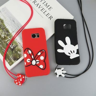 Samsung Galaxy S6 S7 S8 S9 Plus Note 8 Mickey Mouse Cute Cartoon Phone Case Tpu