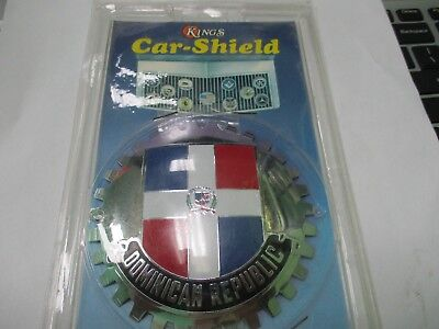 Dominican Republic grille badge KIngs car shield new