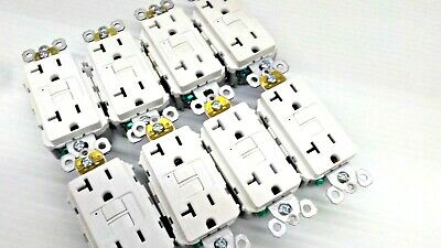 LOT OF 8 Legrand Pass Seymour 2097TRW Tamper Resistant GFCI 20A WHITE FREE SHIP