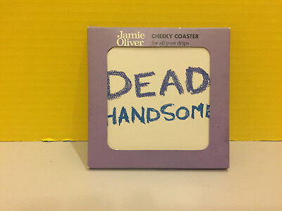 """Jamie Oliver """"Dead Handsome"""" Cheeky Coaster New In Box Wipe Clean"""