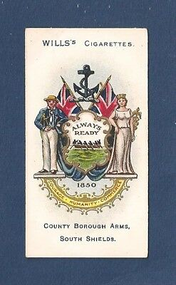 SOUTH SHIELDS  COAT of ARMS SANDANCERS beautifully printd1905 original print