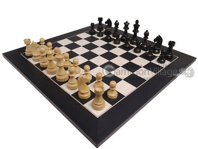 "NEW! Deluxe 20"" Chess Set - Spanish Board & Staunton Gambit Pieces - 3.75"" King"