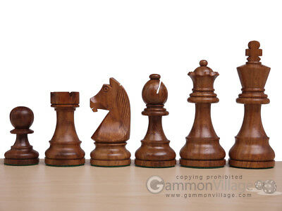 "NEW! Weighted 3"" KH Staunton Gambit Wooden Staunton Chess Men & Wood Storage Box"