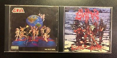 GWAR CD Lot Scumdogs of the Universe and This Toilet Earth