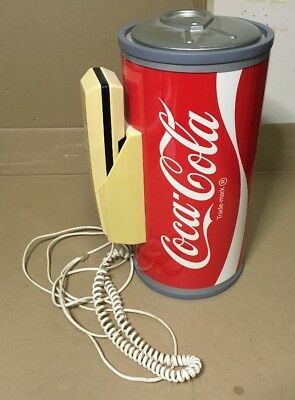 RARE Vintage Paul Nelson Coca Cola Push Button Telephone Coke Can