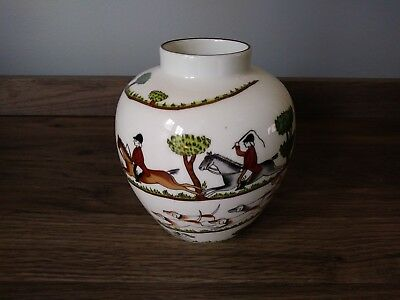 "Crown Staffordshire HUNTING SCENE 4 1/4"" Vase~ HTF~ FREE SHIP"