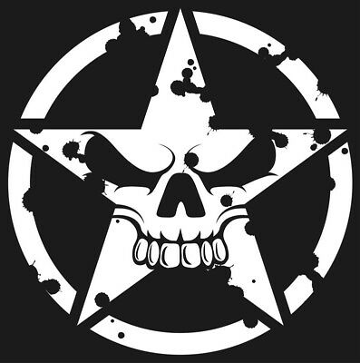 2x Star Circle Military Jeep Army Vinyl Decals Stickers