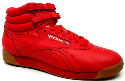 d22efdc9afce2 REEBOK WOMENS FREESTYLE Hi Fitness Sneaker Red White BD1603 -  59.99 ...
