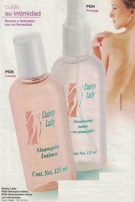 Intimate Shampoo & Deodorant Combo - Dainty Lady 125ml Each - Soft and Delicate