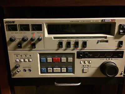Sony VO-9850 3/4 U-Matic SP Tape Recorder with time code reader.