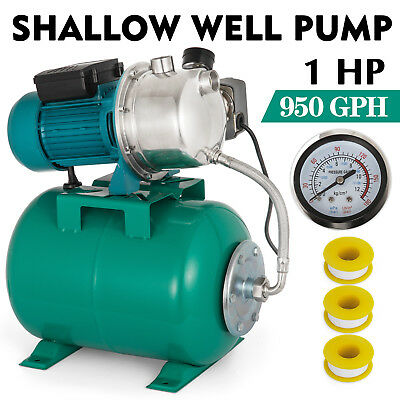 1HP SHALLOW WELL Jet Pump W/Pressure Switch 950 GPH Agricultural 2 8m3 45 m  Lift