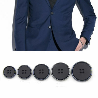 10Pcs Round 4 Holes Buttons for Suit Jacket Coat Sewing Craft Clothes Accessory