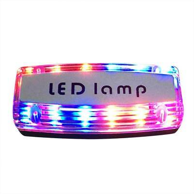 Rechargeable LED Shoulder Light Red Blue Clip Type Traffic Patrol Safety Signal