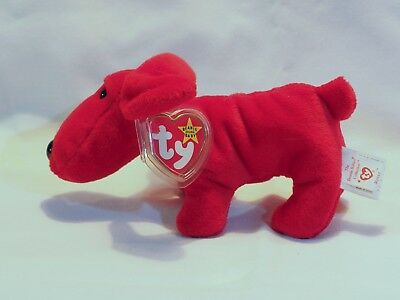 """TY Beanie Babies """"ROVER"""" Red Puppy Dog - MWMTs! RETIRED! A MUST HAVE! GREAT GIFT"""