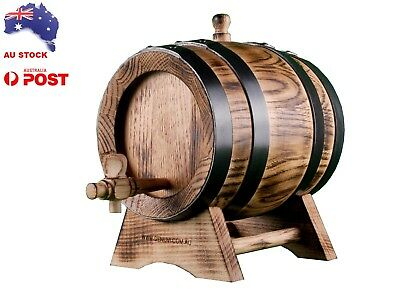 NEW French OAK BARREL 1.5Lt Rustic Keg Age Port Home Brew Whisky Christmas Sale