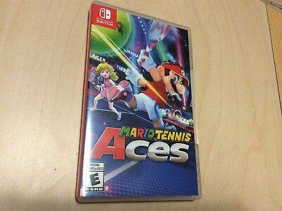 Nintendo Switch Game Mario Tennis Aces Complete Like New Free Ship