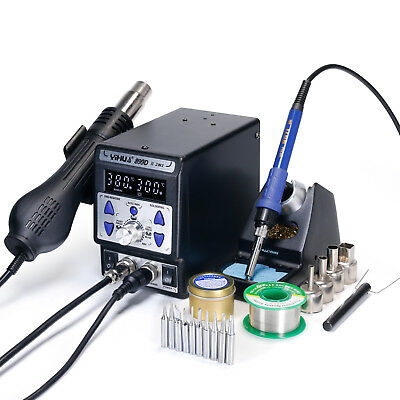 YH899D Series 2IN 1 UPGRADE CONSTANT TEMP. HOT AIR REWORK SOLDERING IRON STATION