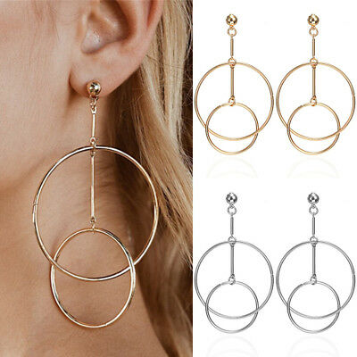 Graceful Round Big Circle Hollow Out Drop Earrings Unique Jewelry Women Girls