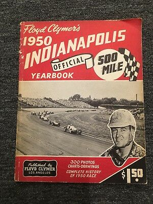 1950 Floyed clymer's Indianapolis 500 Mile Official Yearbook Johnnie Parsons