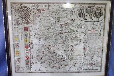 An Antique  Copy Of A English Map Of Wilshire Circa 475.