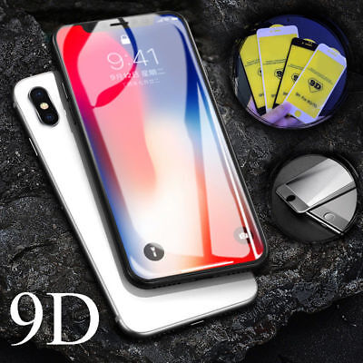 9D iPhone X Xs Max XR 8 7 6s Plus Full Coverage Tempered Glass Screen Protector
