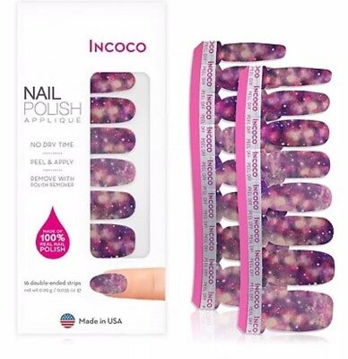 INCOCO NAIL polish strips Milky Way 16 Double-ended 🌹Strips 2.4g ...