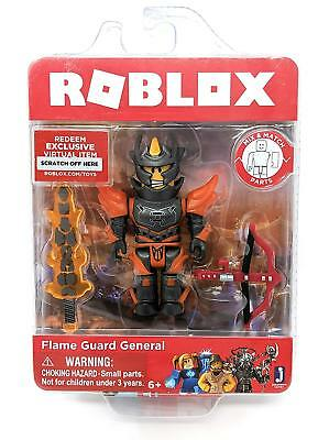 Roblox FLAME GUARD GENERAL Series 4 Core Action Figures Toys Packs+Virtual Codes