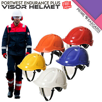 Portwest Endurance Plus Visor Helmet Defender Cap Hard Hat Safety Workwear PW 54