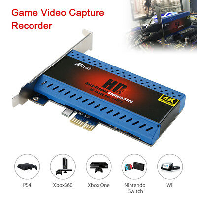 YK763 4K 1080P@60fps Game Video Capture Card PCIe Streamer Recorder For Xbox PS4