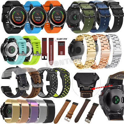 20mm Quick Band for Garmin Fenix 5S Strap Stainless Steel/Silicone/Leather Belt