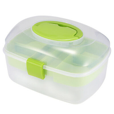 Organizer Container Empty Clear Box for Sewing Kit Tool Needles Thread Scissor