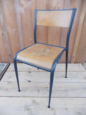 ANTIQUE CHAIR SCHOOL / FOOT SPINDLE in good condition / METAL AND WOOD / VINTAGE