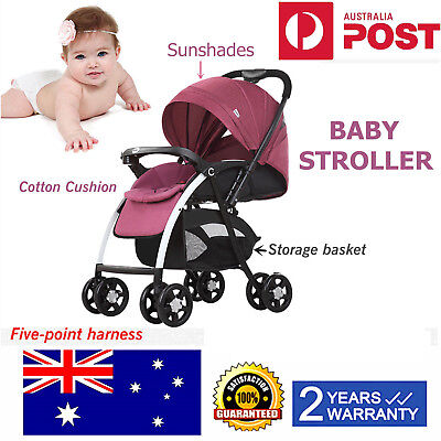 Baby Stroller Baby Carriage Stylish Pushchair Travel Buggy Prams Newborn Gift AU