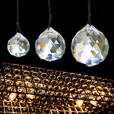Hanging Crystal Sun catcher Ball Feng Shui Rainbow Prism wind Chime 15mm-50mm