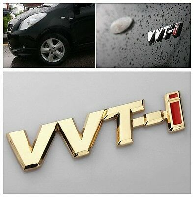 2Pcs Golden VVT-I Auto Body Front Sides Sticker Emblem For Corolla Reiz Carola