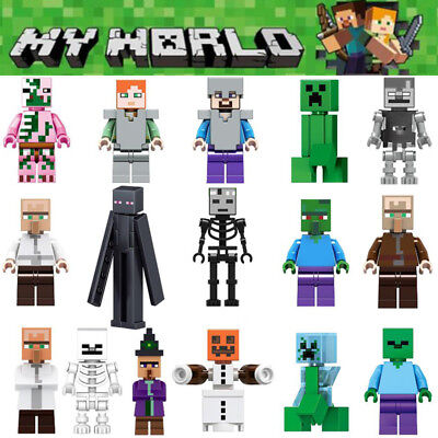 16Pcs Minecraft My World Series Minifigures Characters Building Blocks Toys Gift
