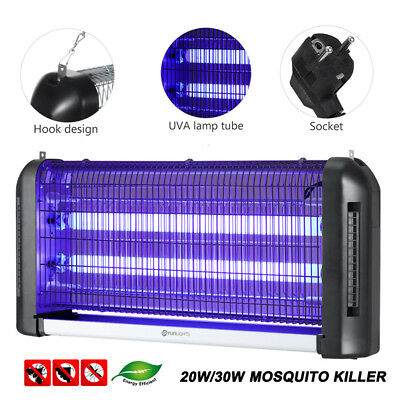 20W/30W Electric UV Insect Killer Mosquito Fly Pest Zapper Catcher Trap Lamp