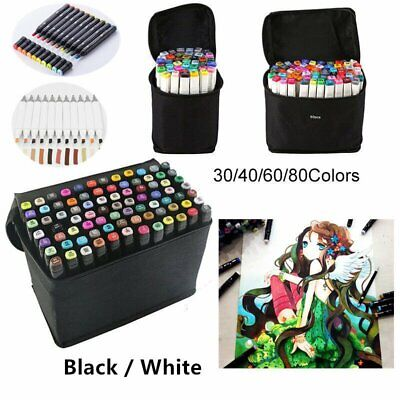 Dual Head Art Sketch Markers School Drawing Painting Copic Mark Pen Set