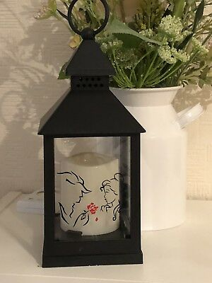 Personalised  Lantern Disney Inspired Beauty And The Beast