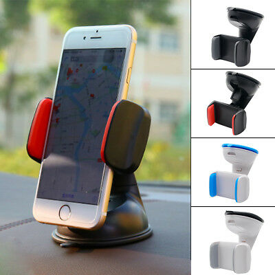 Car Mobile Phone Holder Universal Mount Windscreen Dashboard Various Colours