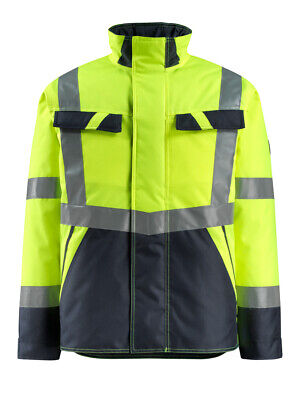 Mascot Penrith 15935-126 Mens Hi Vis Jacket Water-Repellent Quilted Coat Size L