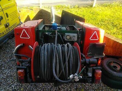 Trailer mounted drain jetter pressure washer EXTREME POWER! Lister Petter TX3