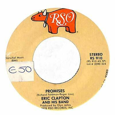 "Eric Clapton And His Band - Promises - Import - 7"" Record Single"