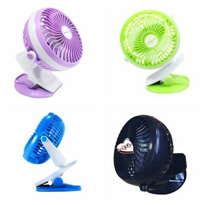 AU Baby Stroller USB Rechargeable Battery Operated Clip Portable Desk Mini Fan