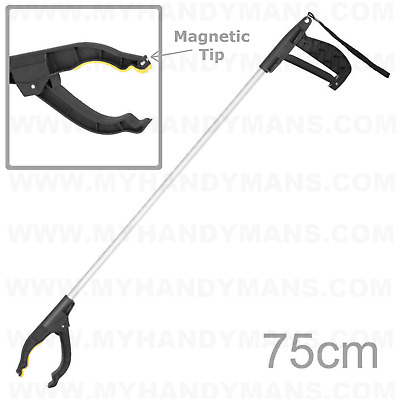 Green Jem Long Reach Grab & Grip Magnetic Tipped Litter Picker picks up 1Kg