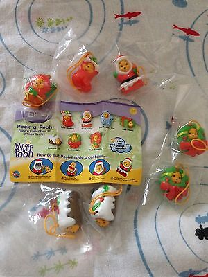 Disney Winnie The PEEK A POOH Key Strap Charm Figure SERIES 10 Christmas Tomy